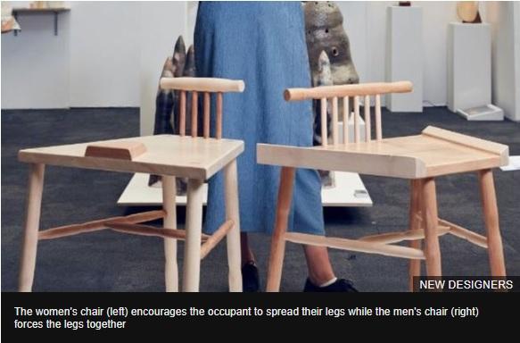 Anti-manspreading chair designer receives backlash