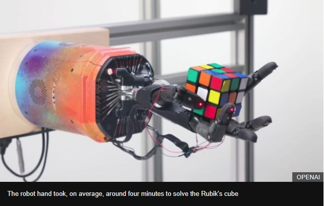 Robot hand solves Rubik's cube, but not the grand challenge