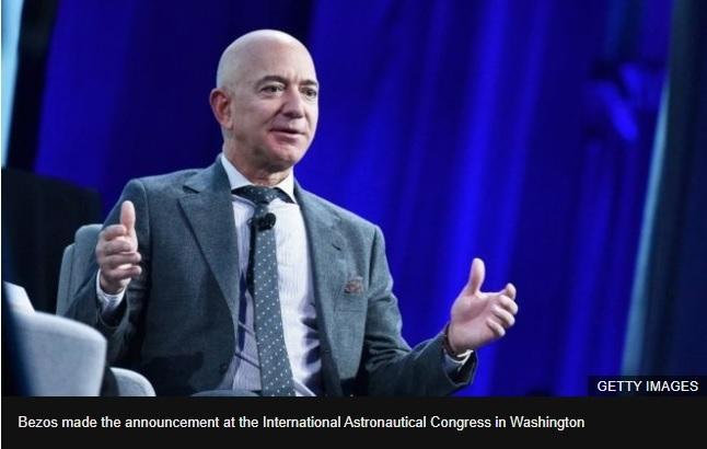 Bezos floats national team to build Moon lander