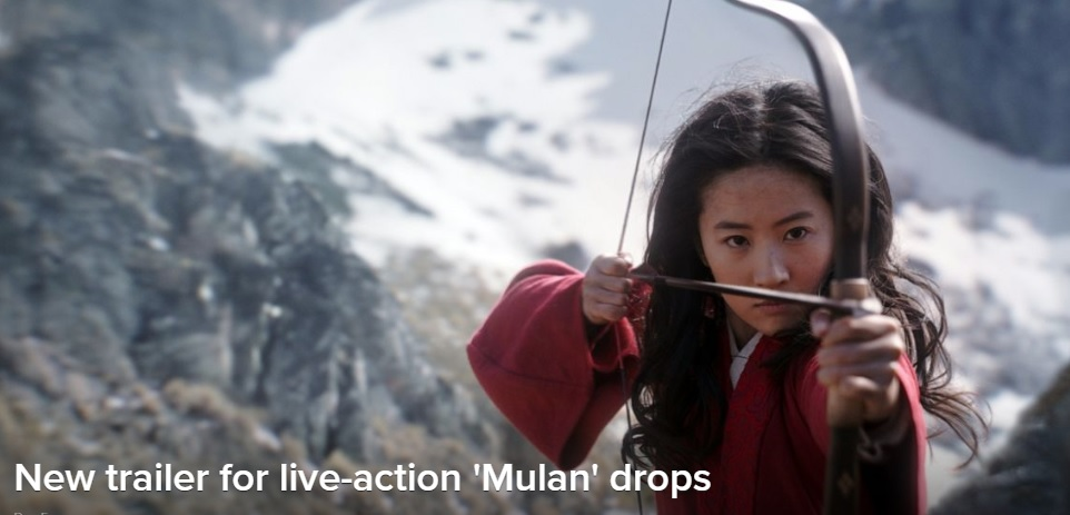 New trailer for live-action Mulan drops