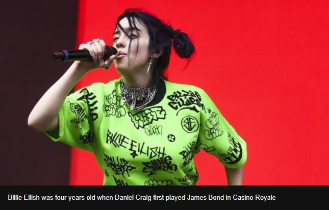 Billie Eilish to sing the new James Bond theme
