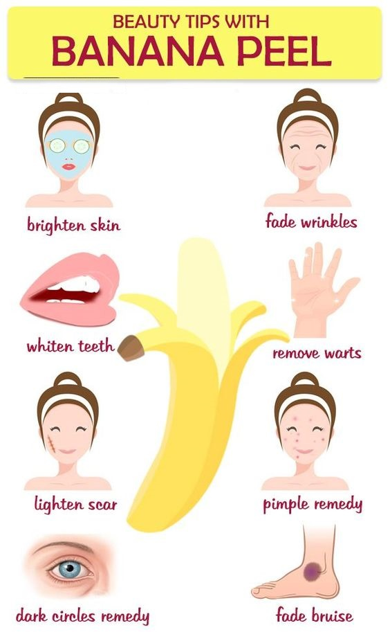 BEAUTY TIPS WITH BANANA PEEL