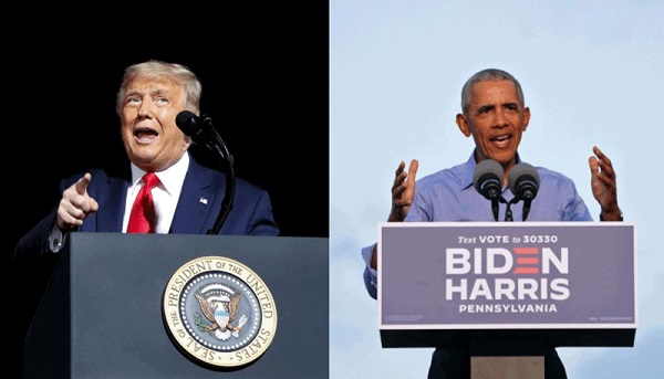 US Election 2020: Trump and Obama lock horns in rival rallies