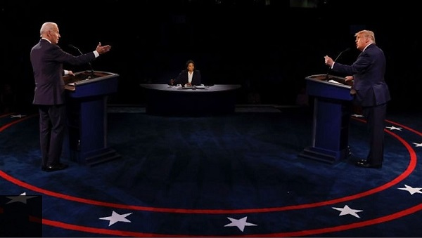 Presidential debate: Trump and Biden row over Covid, climate and racism