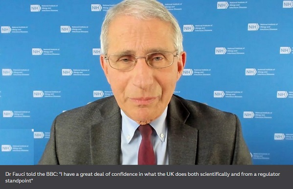 Fauci apologises for saying UK rushed vaccine