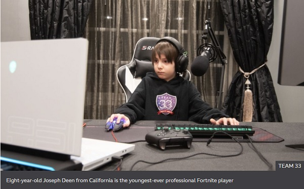 Fortnite: From piano player to pro gamer - aged just eight
