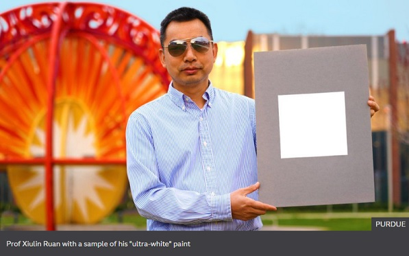 Whitest ever paint reflects 98% of sunlight